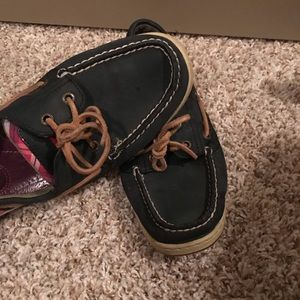 Navy Blue Sperry's! Used.